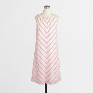 J Crew white/ Pink Striped sundress size 12